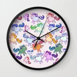 Retard Unicorns Wall Clock
