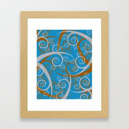 Blue Swirl Pattern Framed Art Print