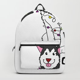 Husky Christmas Dog Puppy Doggie Gift Present Backpack