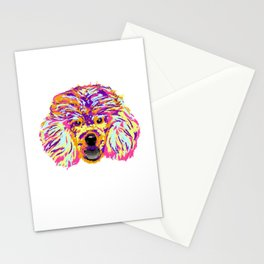 Funny Poodle Art Splash design Gift Artistic Poodle graphic Stationery Cards