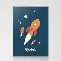 rocket Stationery Cards featuring Rocket by Jane Mathieu
