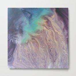 Colour Storm Illusion Metal Print