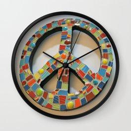 Fiesta Peace Sign Wall Clock