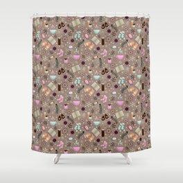 Cozy Danish Winter Hygge Shower Curtain