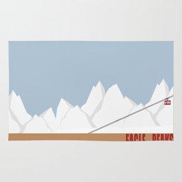 Eagle Peaks - Ski Poster Rug