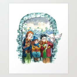 Golden Trio Art Print