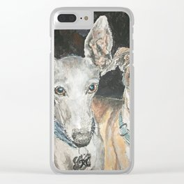 Cuddly Canines Clear iPhone Case