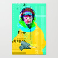 beastie boys Canvas Prints featuring Gioconda Music Project · Beastie Boys · Mike D. by Marko Köppe