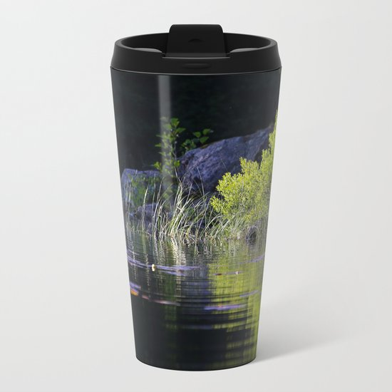 Green Reflection Metal Travel Mug