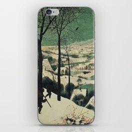 HUNTERS IN THE SNOW - BRUEGEL iPhone Skin