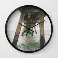 boardwalk empire Wall Clocks featuring Boardwalk. by marksej