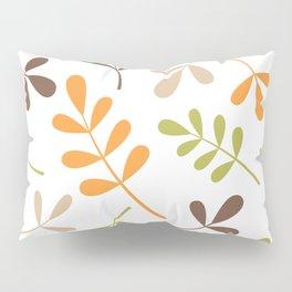 Assorted Leaf Silhouettes Retro Colors Pillow Sham