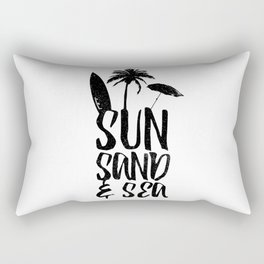 Sun Sand and Sea 2 Rectangular Pillow