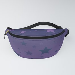 Blue to Indigo Ombre Stars Pattern Fanny Pack