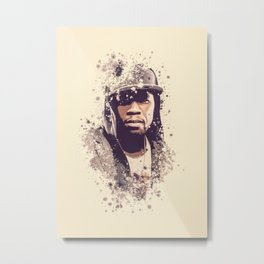 50 Cent splatter painting Metal Print