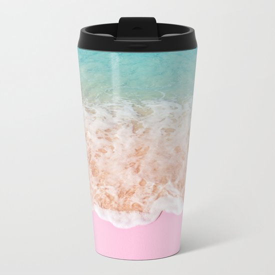 PINK SAND Metal Travel Mug