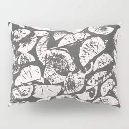 abstract pattern, Firewood texture, tree cut, gray and beige grunge wood background Pillow Sham