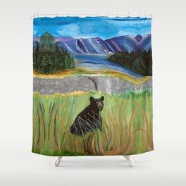 Bear Hunter Shower Curtain