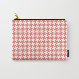 Salmon Pink Houndstooth Pattern Design Carry-All Pouch