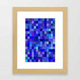 BLUE  SQUARE Framed Art Print