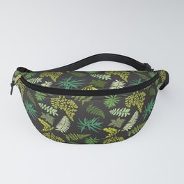 Forest Ferns Illustrated Pattern Fanny Pack