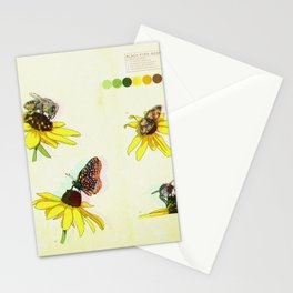 Black Eyed Susan and Her Pollinators Detail 2 TRIPPY Stationery Cards