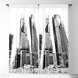 Chicago's Willis Tower Blackout Curtain