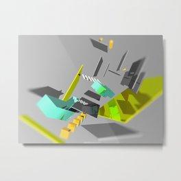 3D Abstract Art Piece Metal Print