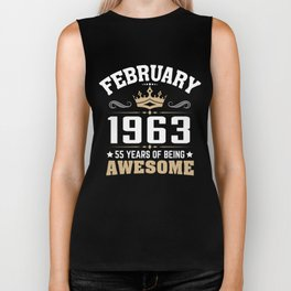 February 1963 55 years of being awesome Biker Tank