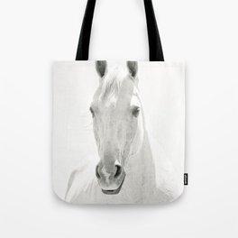 White Horse Photograph Tote Bag