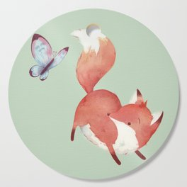 Fox & Butterfly Cutting Board