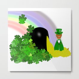 Oliver Finds A Pot Of Gold - Saint Patrick's Day Metal Print