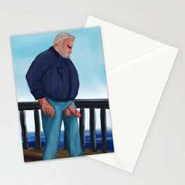 The mature Bear wants to fish with his special Bait. Stationery Cards