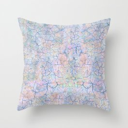 She Talks to Rainbows // Unicorn color dusted rock Throw Pillow