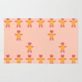 Pink bear print Rug