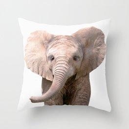 Cute Baby Elephant Throw Pillow