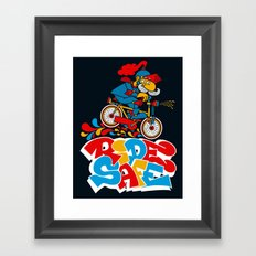 Ride Safe Framed Art Print