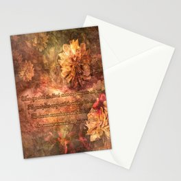 Postcard with lyrics by Lord Byron Stationery Cards