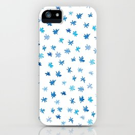 Blue Stars, Watercolour iPhone Case