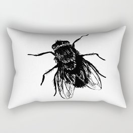 Drawing house-fly Rectangular Pillow