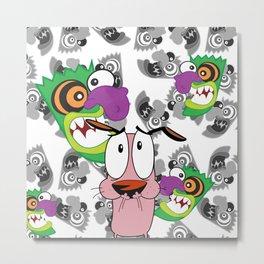 Ooga Booga Courage the Cowardly Dog  Metal Print
