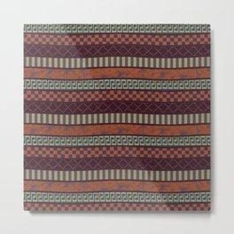 Busy Ribbon Stripes 2 Metal Print