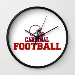 Football in Red Wall Clock