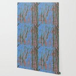 Caryatid in Blue Two Wallpaper