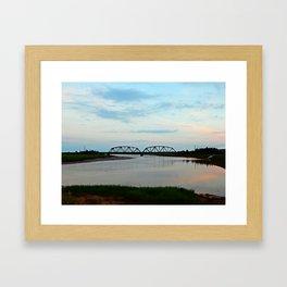 Sackville Train Bridge at Sunset Framed Art Print