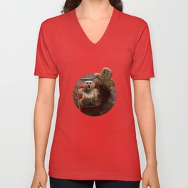 Attack of the Gingerbread man II Unisex V-Neck