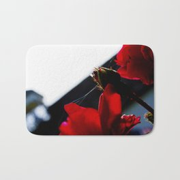 Roses and Spider Webs Bath Mat