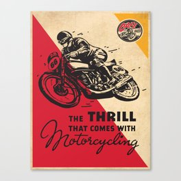 Vintage poster - Motorcycling Canvas Print