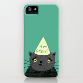 "Fat Olive ""I Am Great"" iPhone Case"