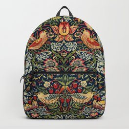 Strawberry Thief by William Morris 1883 Antique Vintage Pattern CC0 Spring Summer Backpack